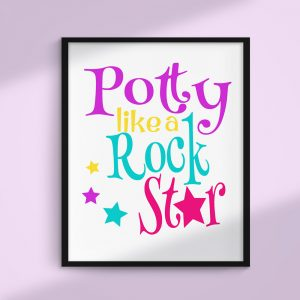 Potty Like a Rock Star Printable and SVG file