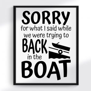 Boating Print and SVG