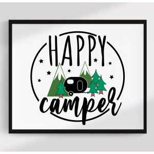 Happy Camper Printable Wall Art