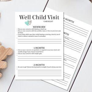 Well Child Checklist