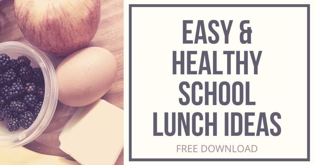 Easy and Healthy School Lunch Ideas